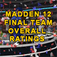 We take an in-depth look at the Madden 12 End of Season Overall Team Ratings. There is no surprise who the number #1 team is at end of the season...
