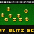 In this X's O's Football video game breakdown, we show a Madden 13 3 play blitz scheme out of the Nickel 1-5-5 Prowl that brings pressure from on the quarterback...
