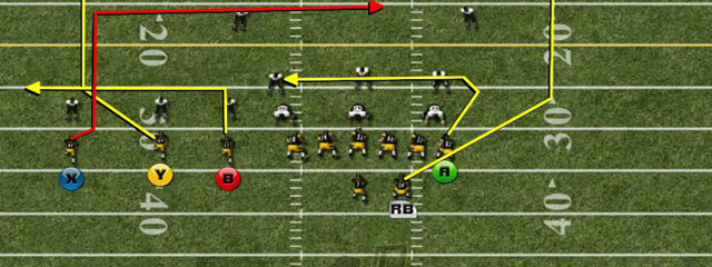 The second play that we want to take a look at from the Gun Trio is called FL Dig. This play has the split end running a deep dig route.