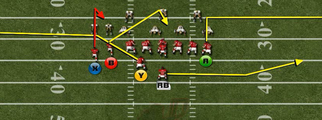 The third and final play we want to show from the Weak Tight Twins is not an actual play that is found of game. We call this TE Zig Zag...