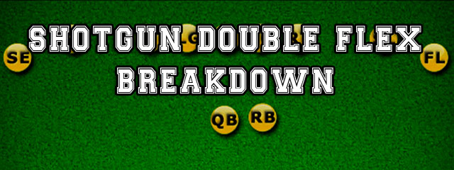 The Shotgun Double Flex is a 2×2 spread alignment that has the runningback aligned to the right of the quarterback. The flanker and split end line up off the line […]