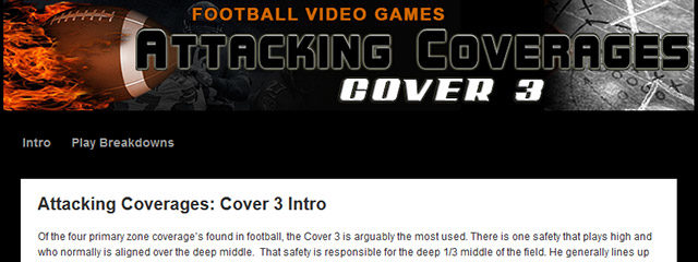 Get 20 Real Passing Concepts That Have Been Proven To Attack Cover 3 Coverage Consistently Regardless What Football Video Game that you are currently playing. These Passing Concepts Are Designed […]