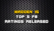 Madden 15 Top 5 Overall FB Ratings