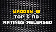 Madden 15 Top 5 Overall RB Ratings